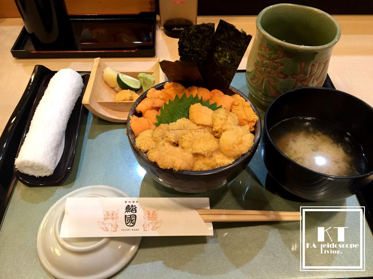 Mouth watering seafood rice bowl in Tsukiji MarketTokyo