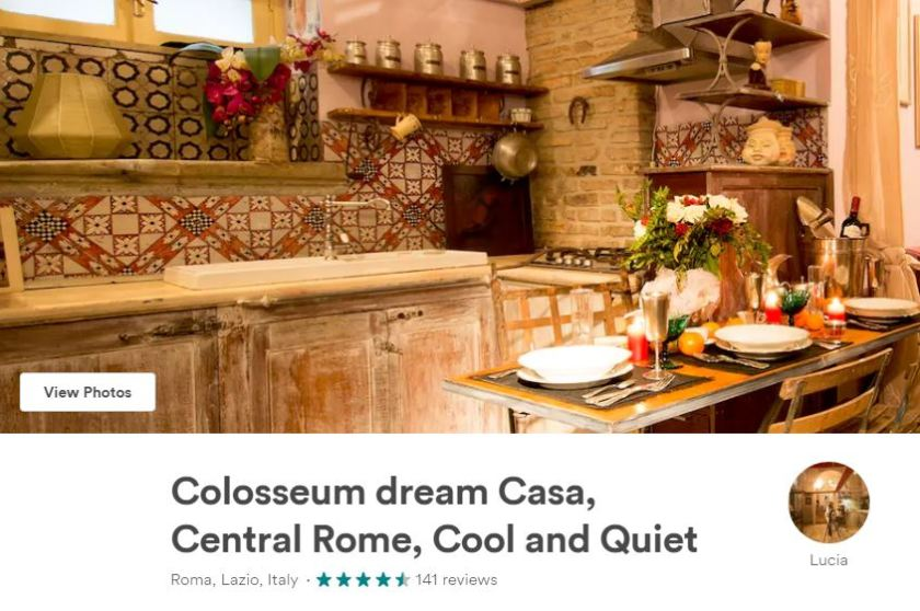 Travel Italy Rome Colosseum Unique Accommodation Airbnb Hotel 22