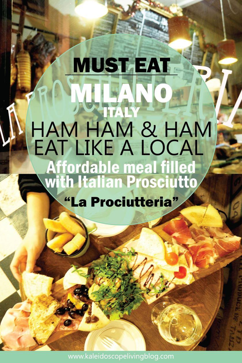 Travel Italy Milan Milano Must Eat Prosciutto La Prociutteria 28