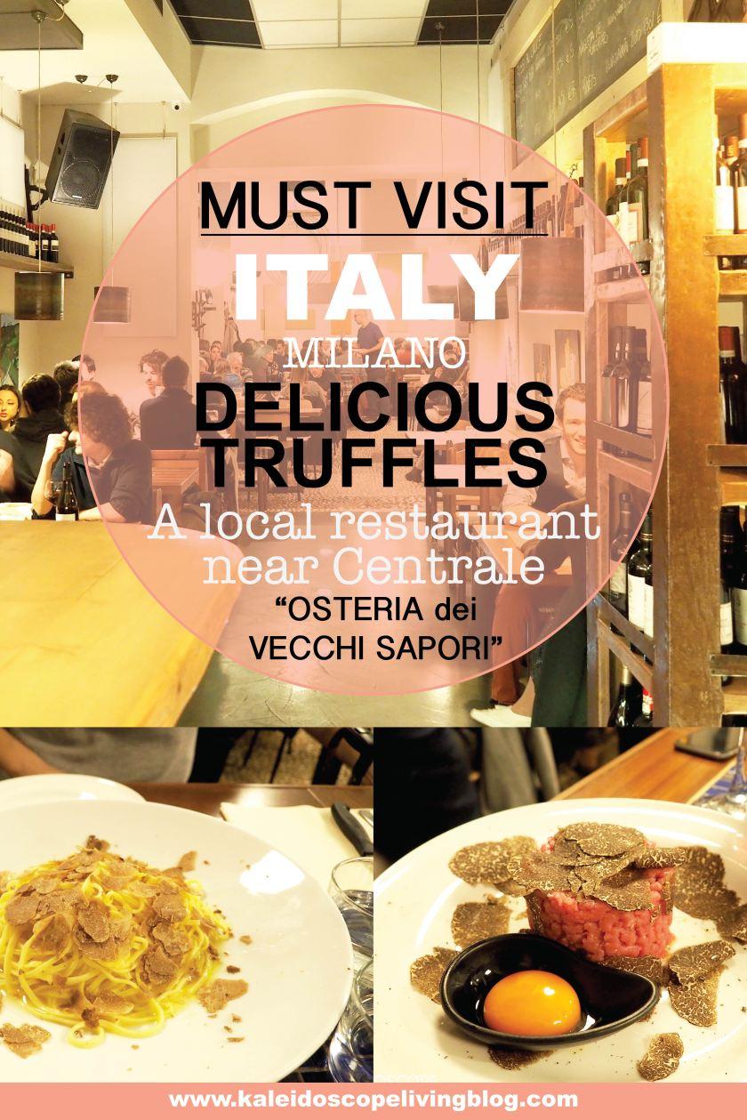 Travel Italy Milan Truffles Osteria dei Vecchi Sapori 意大利 米蘭 推介
