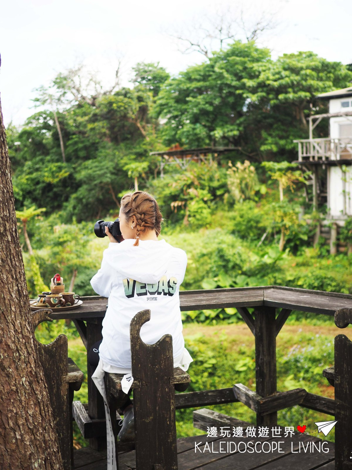 The Hidden Tree Top Terrace Cafe with a Breath Taking View in Okinawa