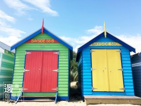 Travel Australia Melbourne Brighton Beach Bathing Boxes Colourful Huts 澳洲墨爾本彩虹小屋